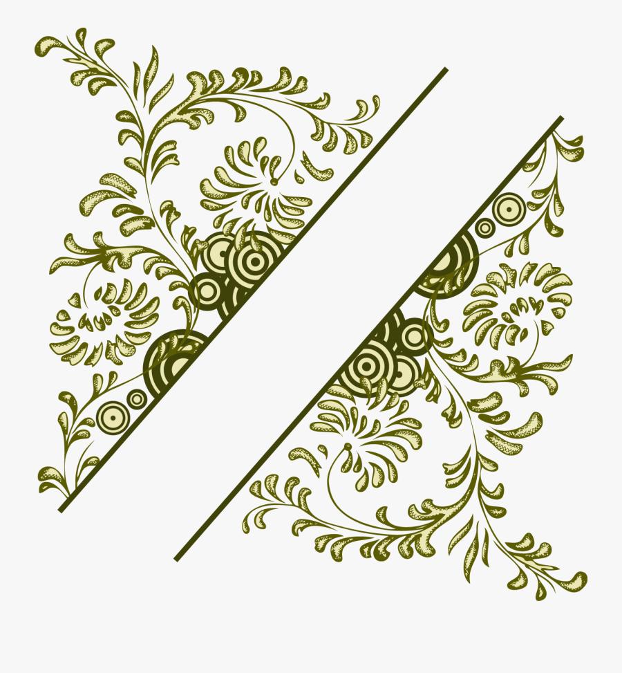 Flower Vintage Frame Illustration Vector Design Floral - Border Vector Design Png, Transparent Clipart