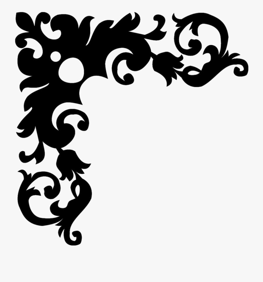 Black And White Flower Borders Design - Border Design Black And White, Transparent Clipart
