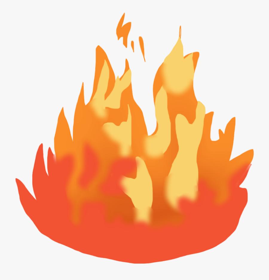Clipart Fire Bushfire - Animated Cartoon Fire Png, Transparent Clipart
