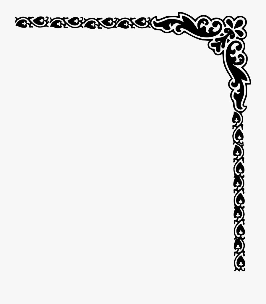 Corner Border Design Png, Transparent Clipart