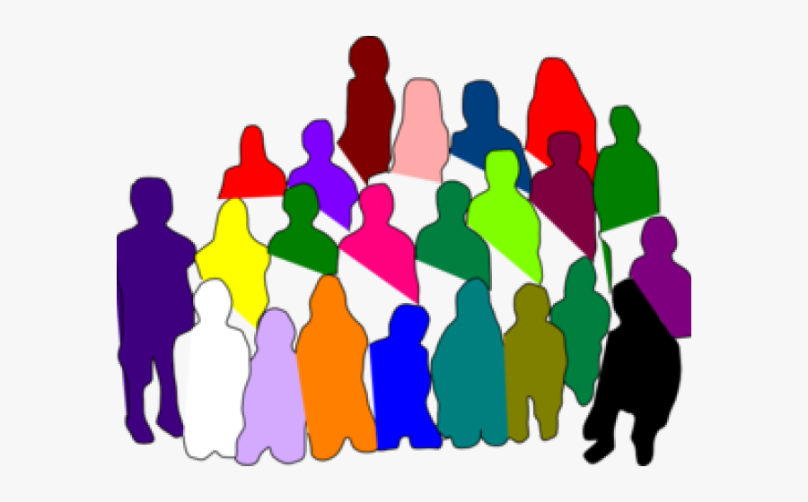 Transparent Crowd Of People Png - Diverse Group Clipart, Transparent Clipart