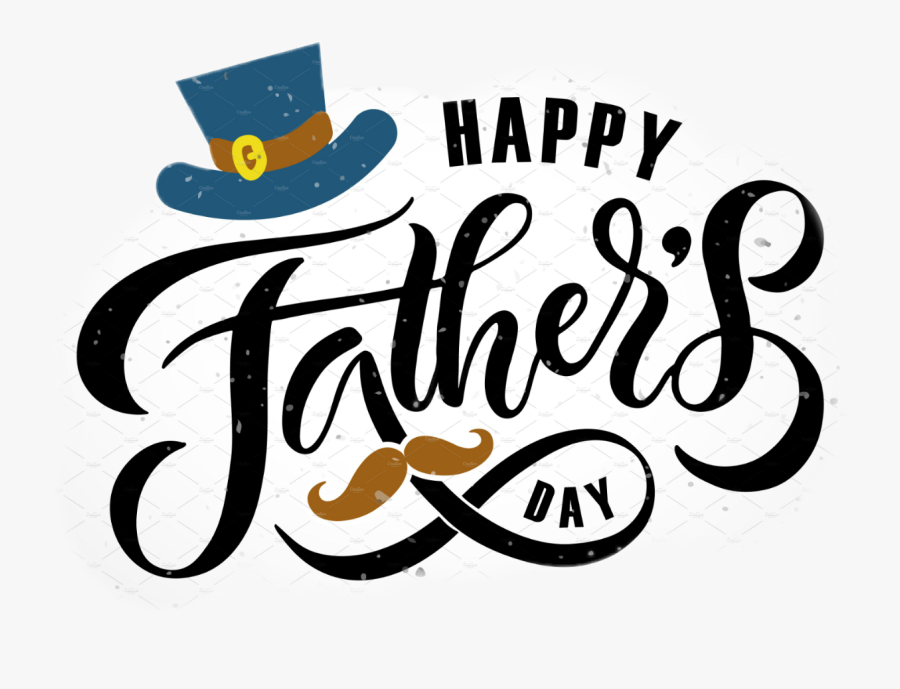 Happy Fathers Day Typography Clipart , Png Download - Cute Happy Fathers Day, Transparent Clipart