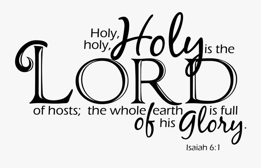 Transparent Glory Png - Holy Holy Holy Black And White, Transparent Clipart