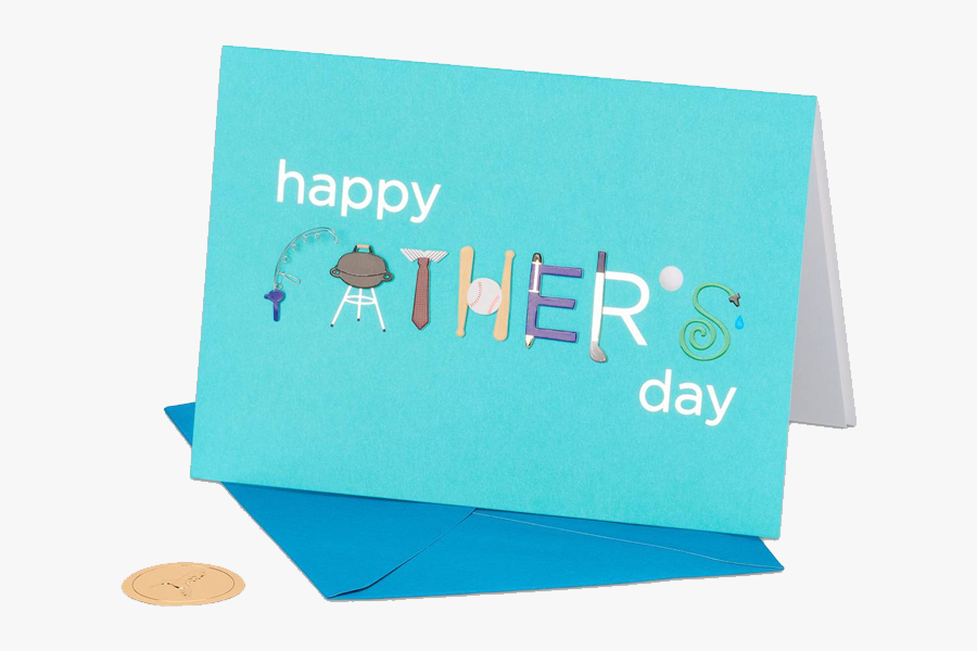 Clip Art Cards For Fathers Day - Card For Father's Day 2018, Transparent Clipart