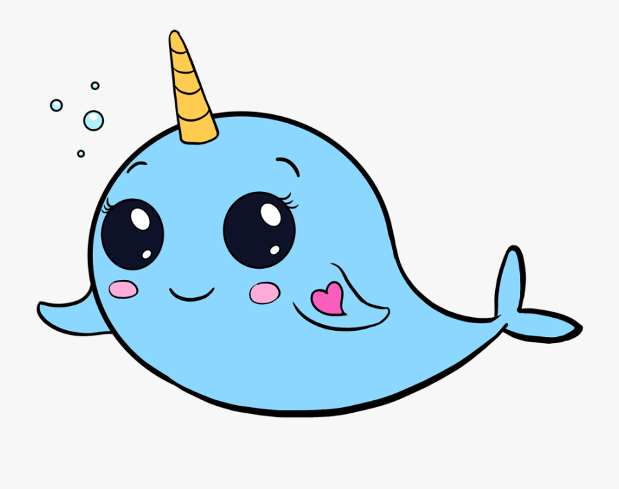 Collection Of Free Narwhal Drawing Easy Draw Download - Cute Easy To Draw, Transparent Clipart
