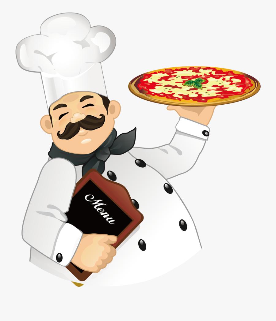 Clip Art Profession Cook - Italian Pizza Chef Kiss, Transparent Clipart