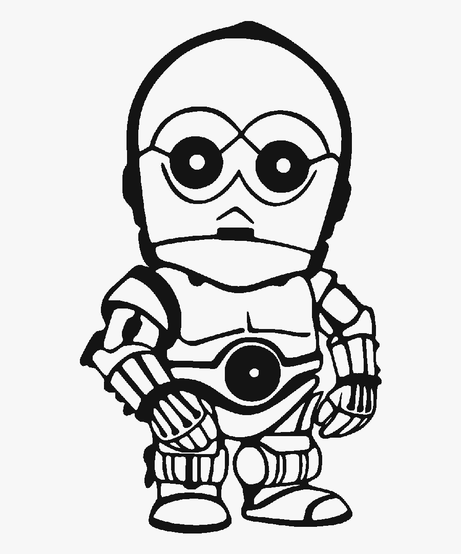Transparent C3po Clipart - Chibi Star Wars Characters, Transparent Clipart