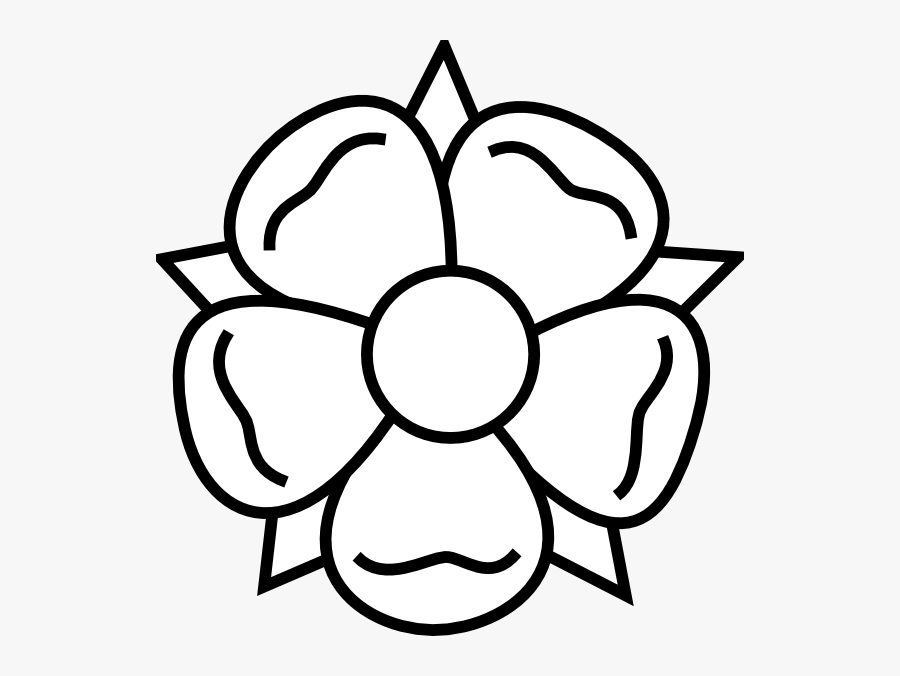Lily Pad Outline - Easy Spring Flower Drawing, Transparent Clipart