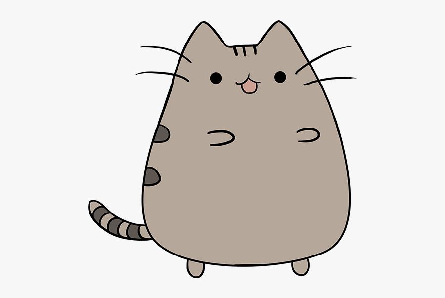 Pusheen Cat Clipart Drawn Feline - Pusheen The Cat Drawing, Transparent Clipart