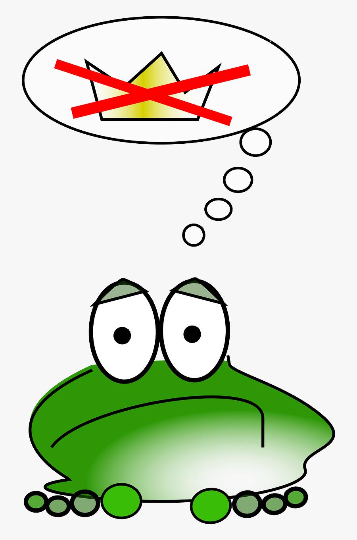 Cartoon Frog Question Frog, Transparent Clipart