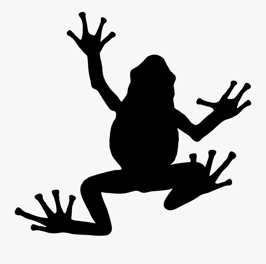 Lily Pad Clipart Cute Frog - Silhouette Frog Clipart Black And White, Transparent Clipart