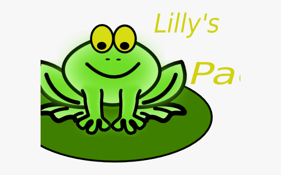 Lily Pad Cartoon - Frog Lilypad Clipart Transparent, Transparent Clipart