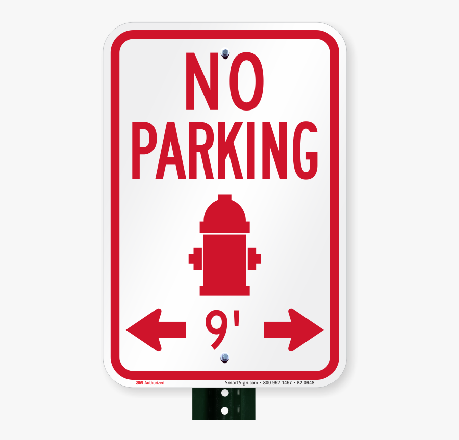 Fire Hydrant Signs Regulations - Parking Signs, Transparent Clipart