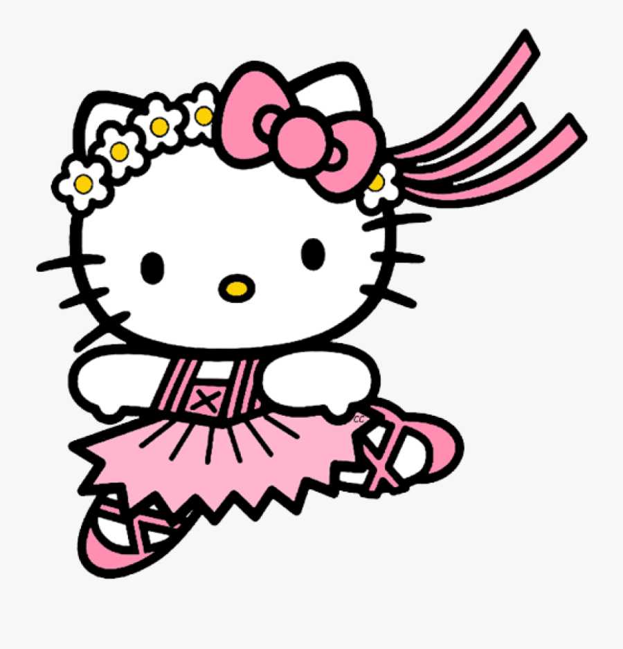 Hello Kitty Clipart Picture - Ballerina Hello Kitty Coloring Pages, Transparent Clipart
