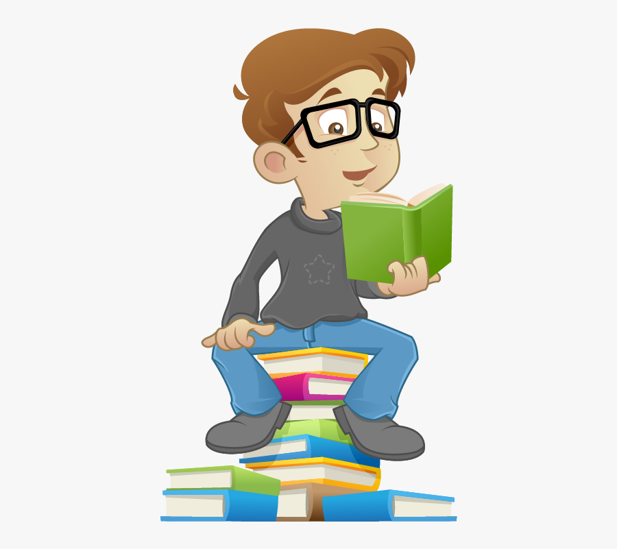 Reading Book Kid Child Free Png Hq Clipart - Cartoon Child Reading, Transparent Clipart