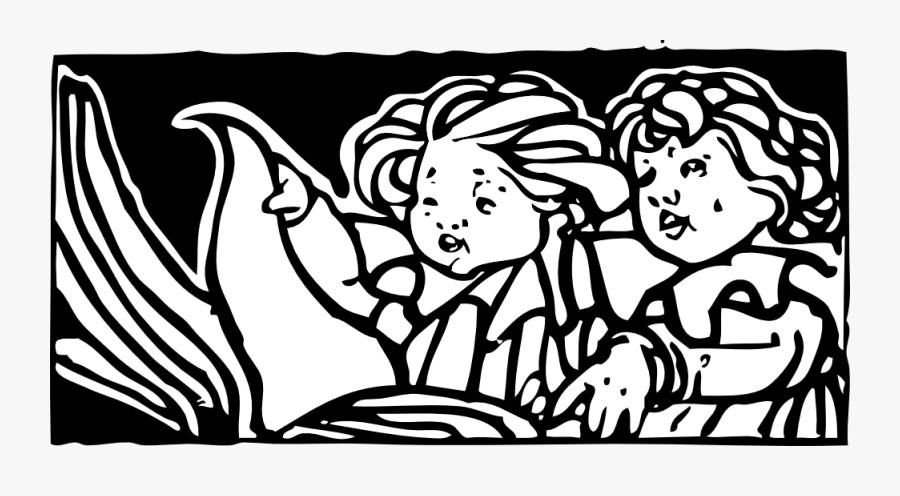 Children Reading - Children Reading Clip Art, Transparent Clipart