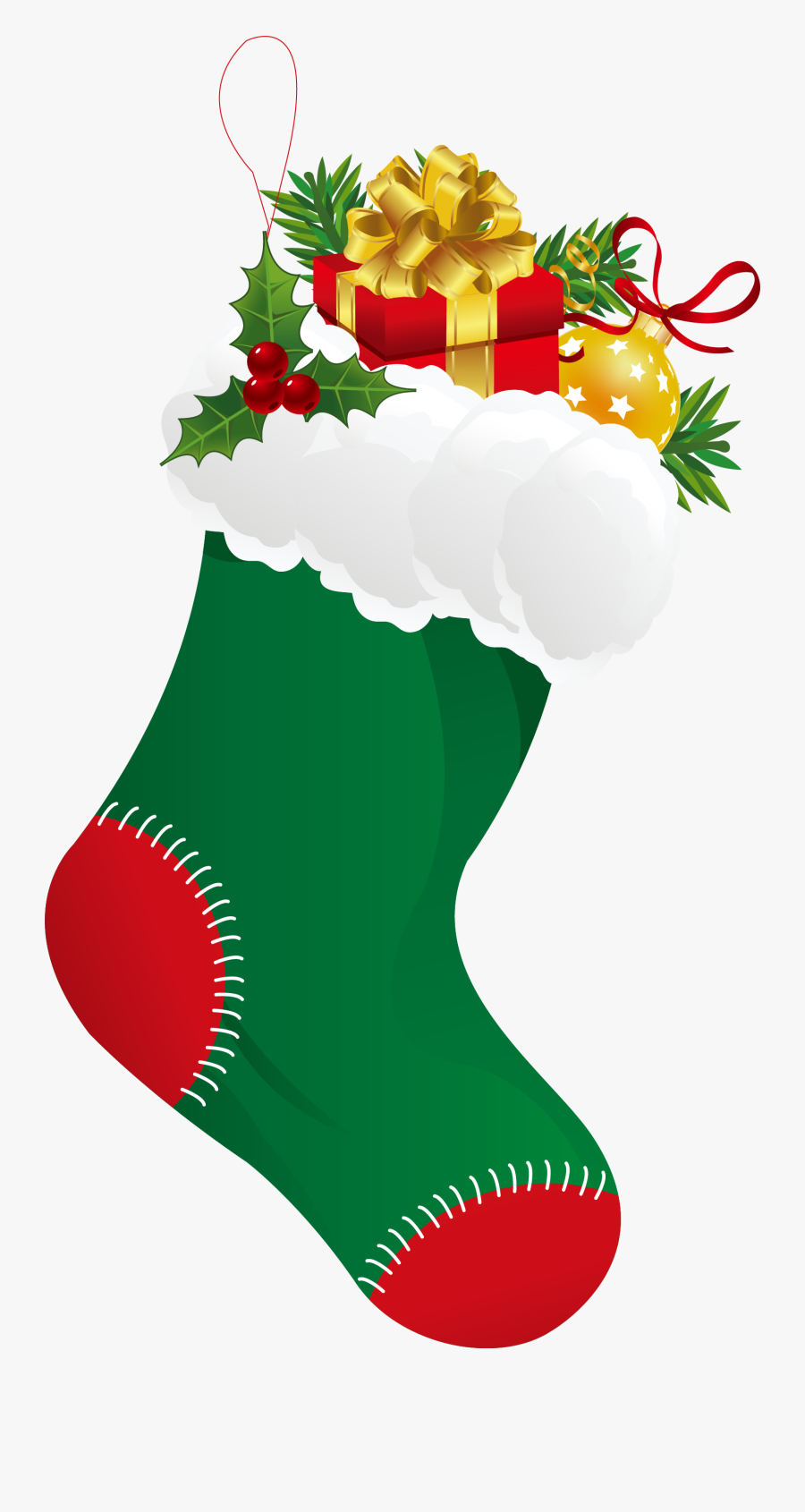 Christmas Stocking Sock Clip Art - Sock Clipart For Christmas, Transparent Clipart