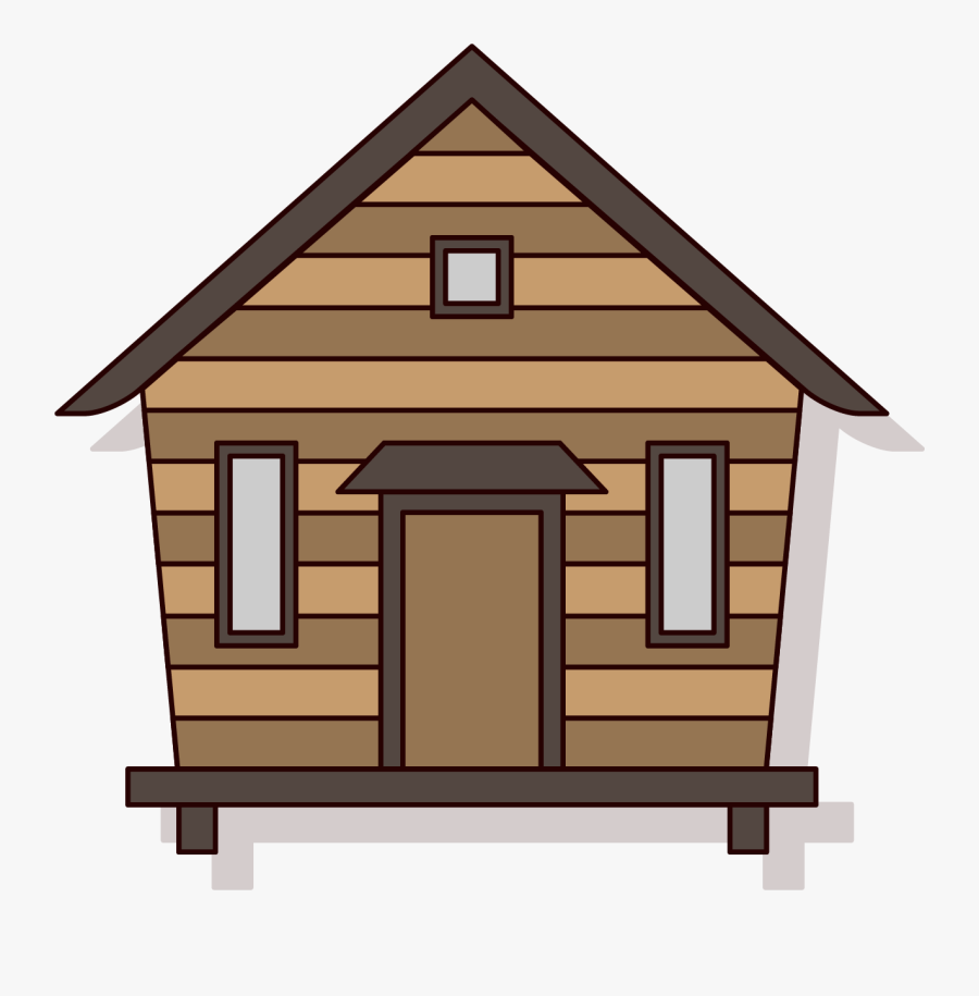 Clip Art Chalet Log House A - Cartoon Cabin Png, Transparent Clipart