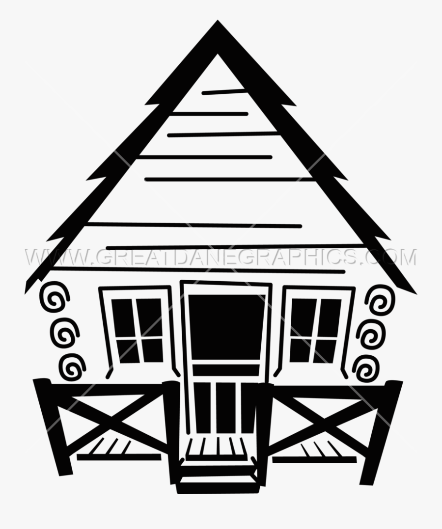Svg Free Stock Camp Production Ready Artwork For T - Cabin Clip Art Black And White, Transparent Clipart