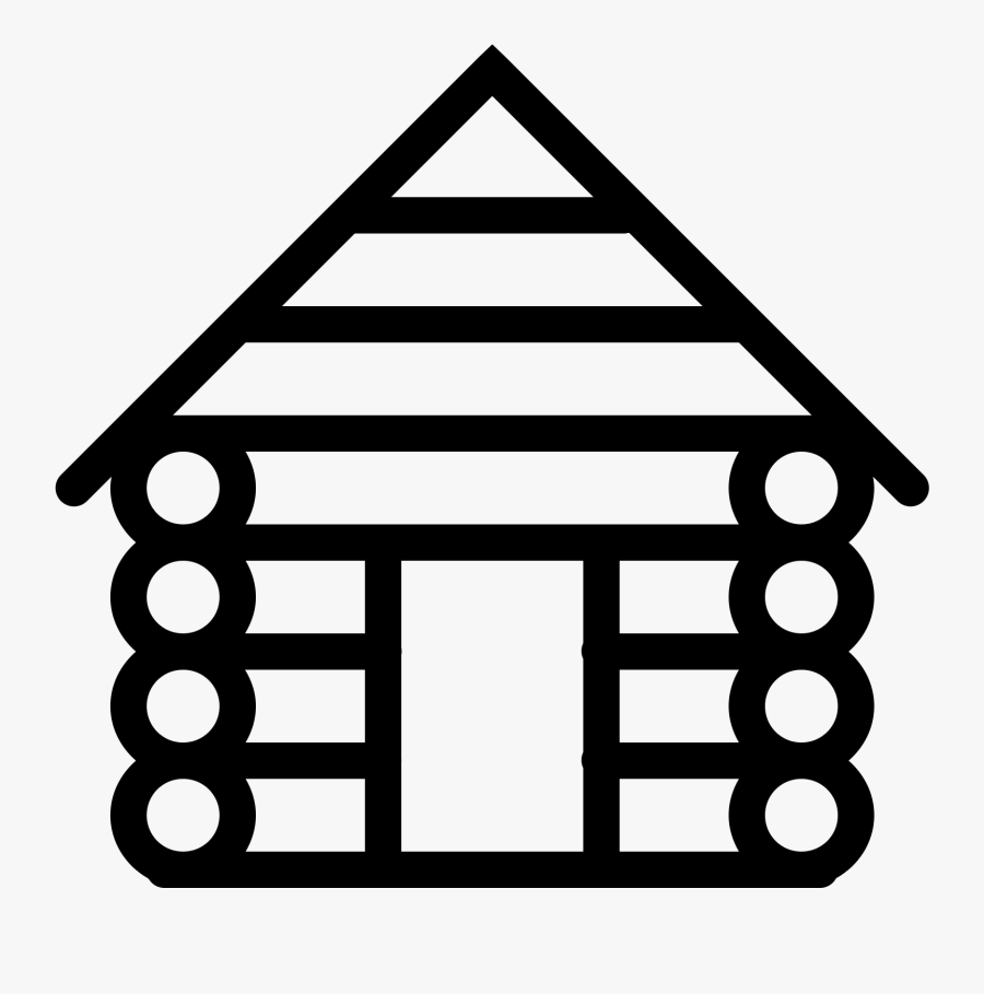 Png File Svg - Log Cabin Icon, Transparent Clipart