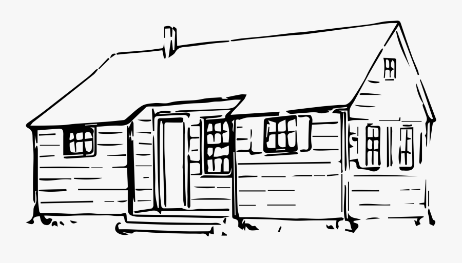Clip Art Collection Of Free Download - Drawing Of Log Cabin, Transparent Clipart