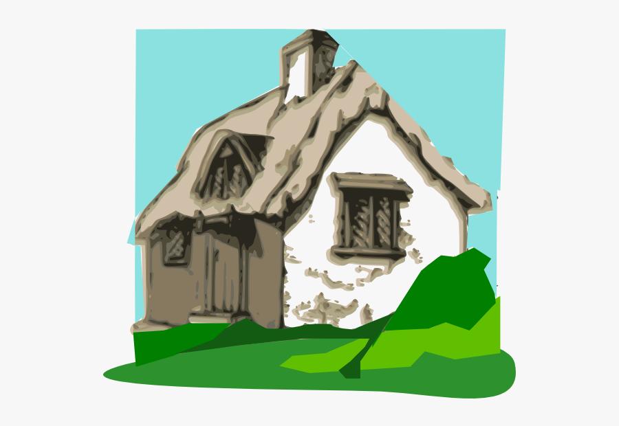 Cottage Clipart, Transparent Clipart