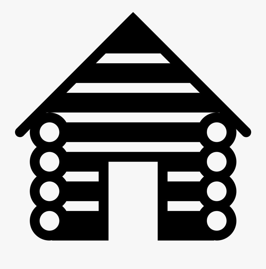 Log Cabin Filled Icon - Transparent Cabin Clip Art, Transparent Clipart