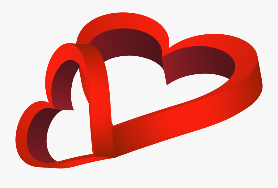 Two Red Heart Png Clipart , Png Download - Portable Network Graphics, Transparent Clipart