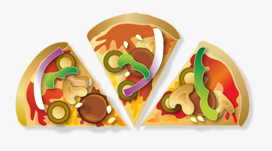 Pizza Slices - Chocolate - Pizza 6 Slices Png, Transparent Clipart