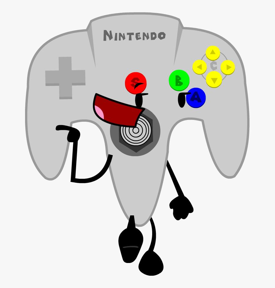 Gaming Clipart N64 Controller - Bfdi Nintendo 64 Controller, Transparent Clipart