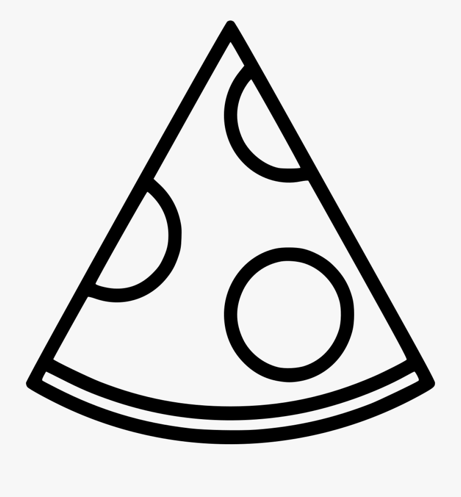 Pizza Slice Clipart Black And White, Transparent Clipart