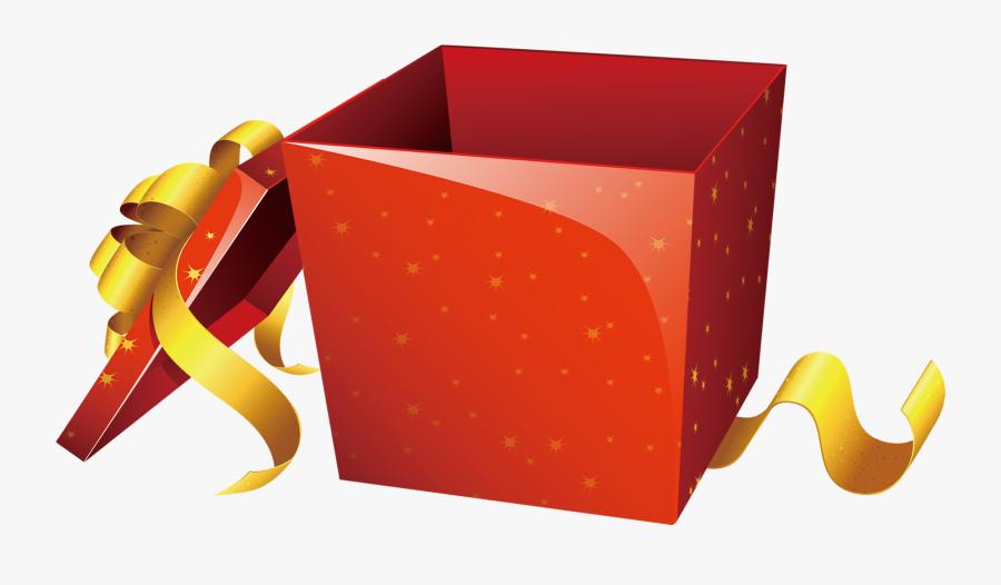 Transparent Box Clip Art - Surprise Gift Box Png, Transparent Clipart