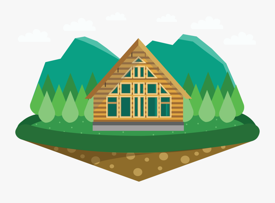 Png Library Stock House Chalet Cottage A - Cartoon Cottage Png, Transparent Clipart