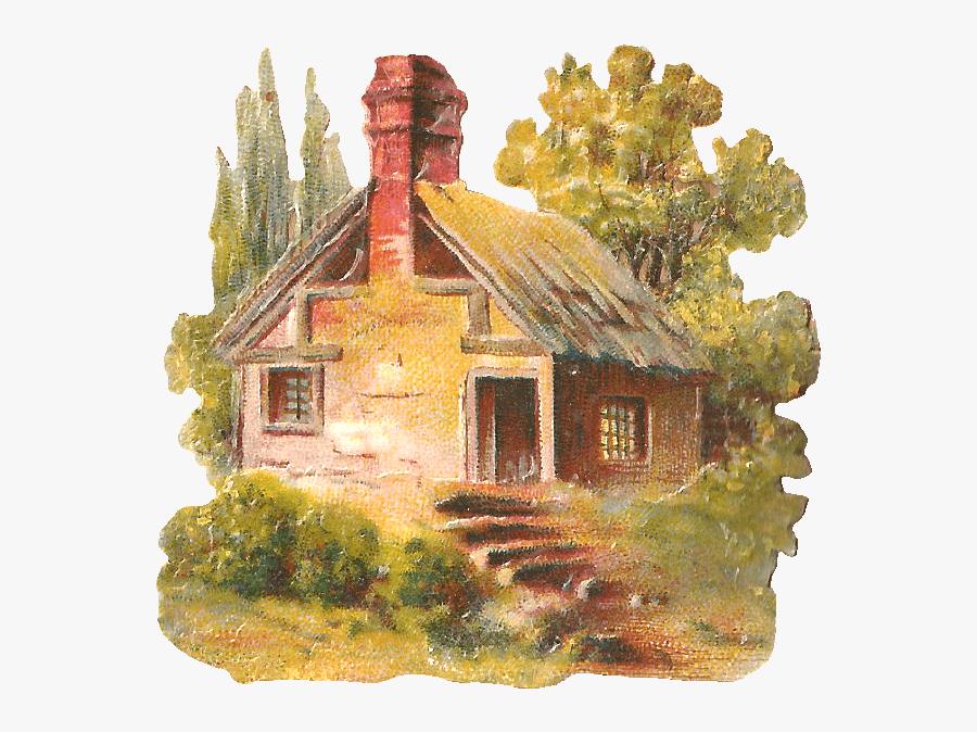 Country Cottage Style Clipart - Cottage Clip Art, Transparent Clipart