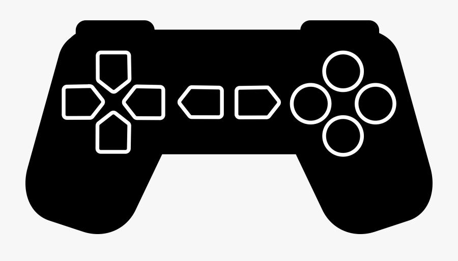 Game Controller Outline Medium - Game Controller Pdf, Transparent Clipart
