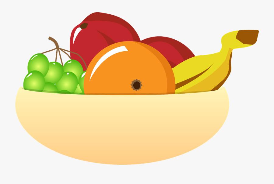 Bowl Vector Graphics - Fruit Bowl Clipart Transparent, Transparent Clipart