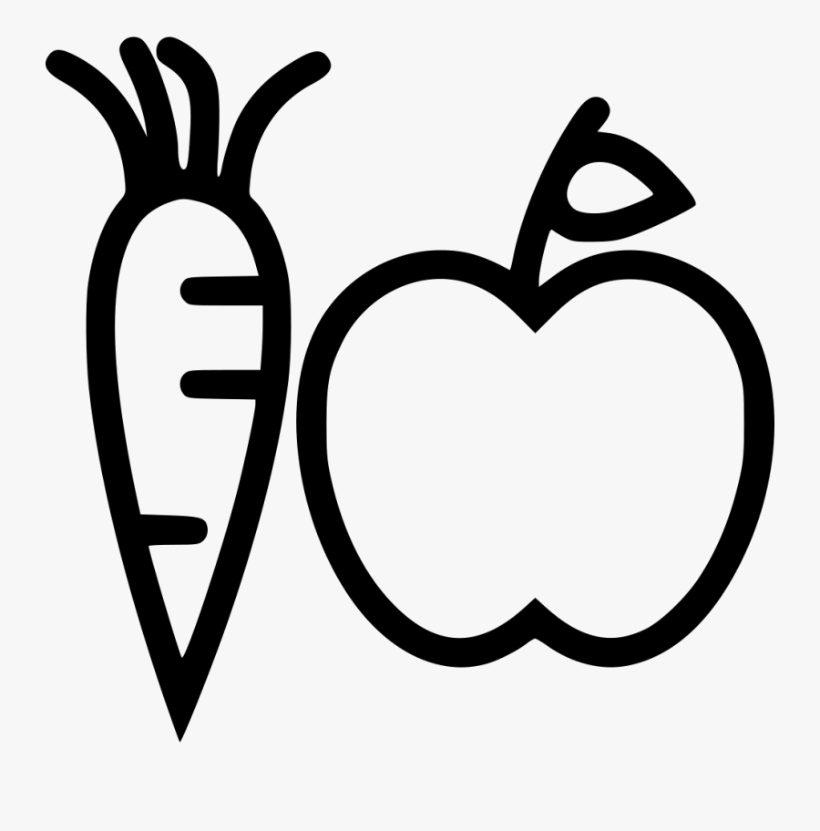 Hd Fruits Vegetables Comments - Fruits And Vegetables Icon, Transparent Clipart