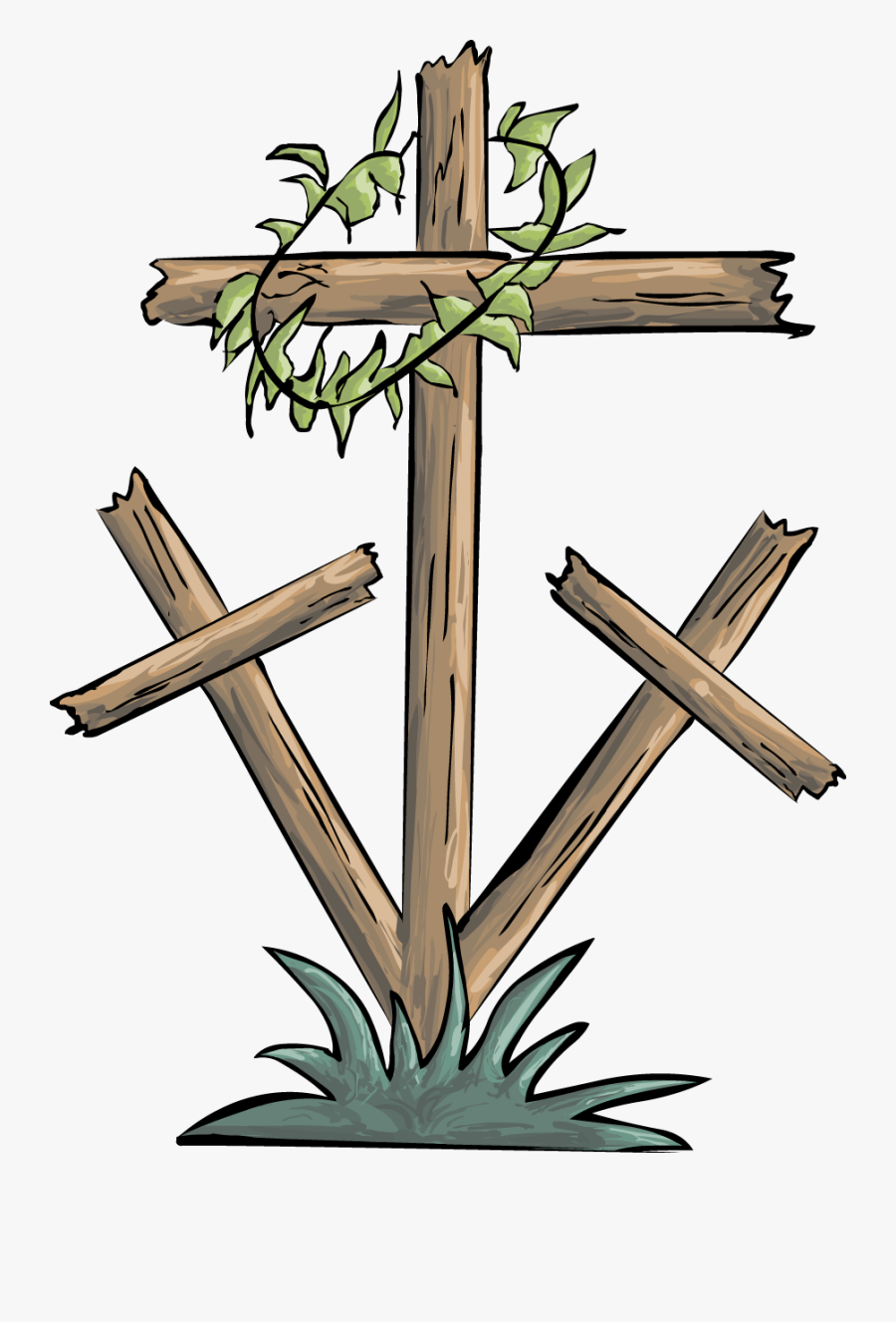 Transparent Cross And Crown Clipart - Good Friday Cross Clipart, Transparent Clipart