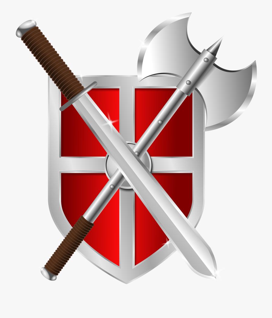 Sword, Battleaxe & Shield - Spiritual Warfare Prayer Warrior Spiritual Warriors, Transparent Clipart
