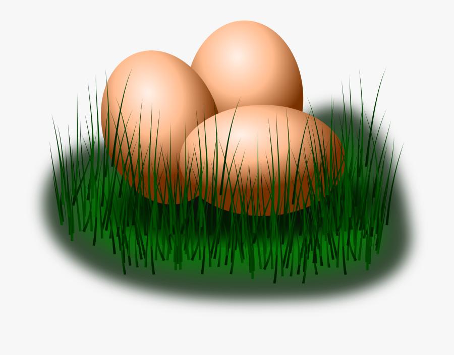 Grass Family,commodity,easter Egg - Egg On Grass Clip Art, Transparent Clipart