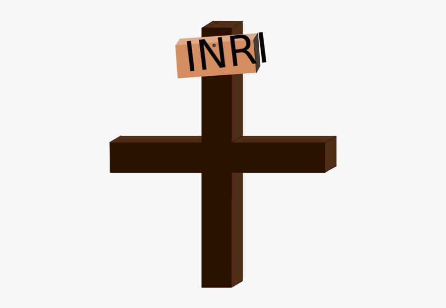 Line,symbol,religious Item - Cruz De Jesus Inri, Transparent Clipart