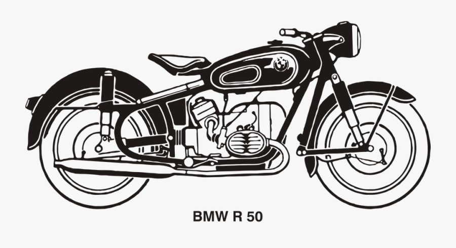 Clip Art Motorcycle Clip Art Free Download - Royal Enfield Outline Drawing, Transparent Clipart