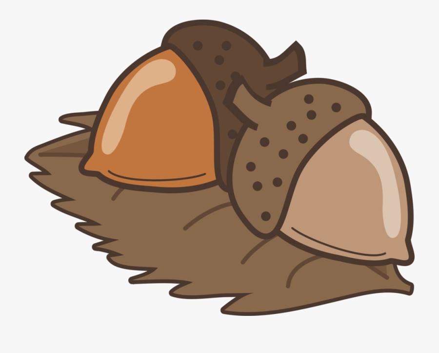 Hermit Crab,encapsulated Postscript,acorn - ลูก โอ๊ ค การ์ตูน, Transparent Clipart