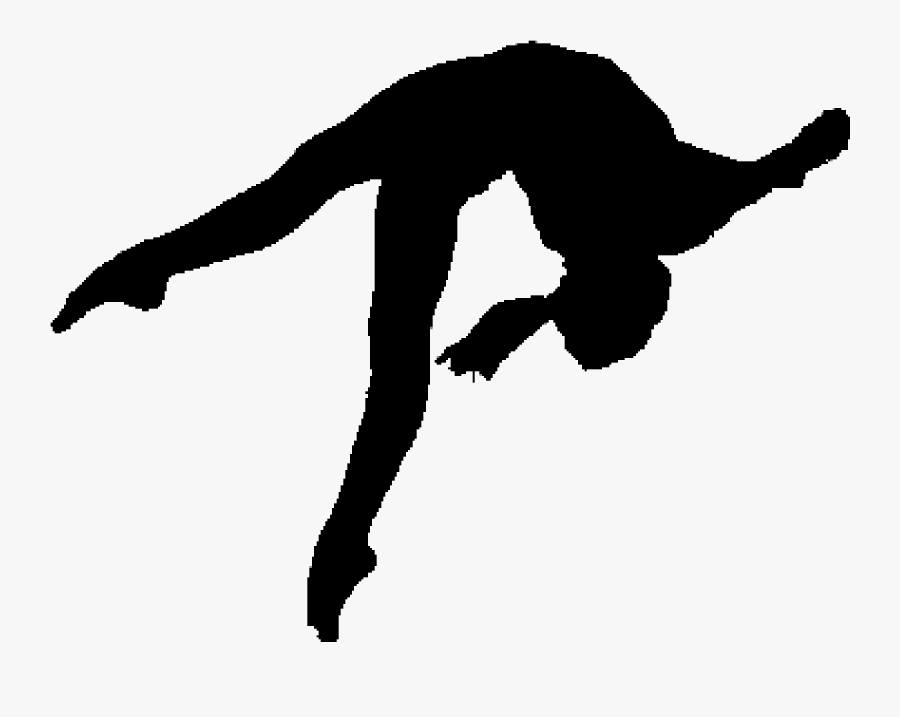 Picture Free Gymnastics Clipart Black And White - Back Handspring Gymnastics Silhouette, Transparent Clipart