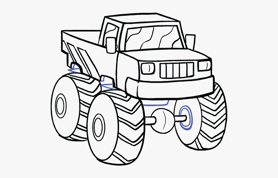 Clip Art Monster Truck Clip Art Black And White Easy Monster Truck Drawing Free Transparent Clipart Clipartkey