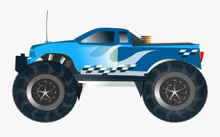 Monster Truck Png - Monster Truck Blue Clipart, Transparent Clipart