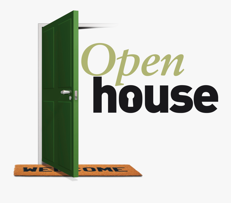 Open House Clipart - Green Open House Sign, Transparent Clipart