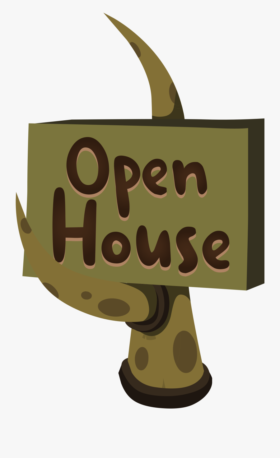 This Free Icons Png Design Of Firebog Open House Sign - Open House Clipart .png, Transparent Clipart