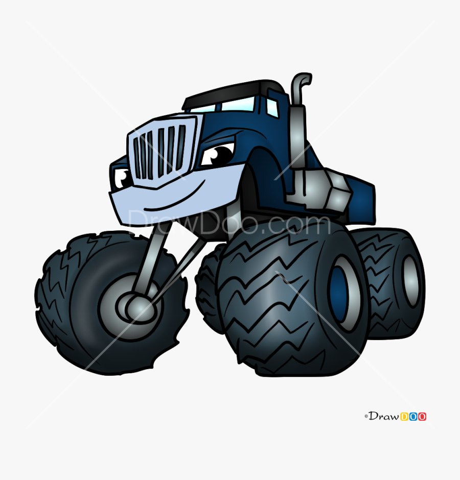 How To Draw Crusher Blaze And Monster Machines Png Blaze Monster
