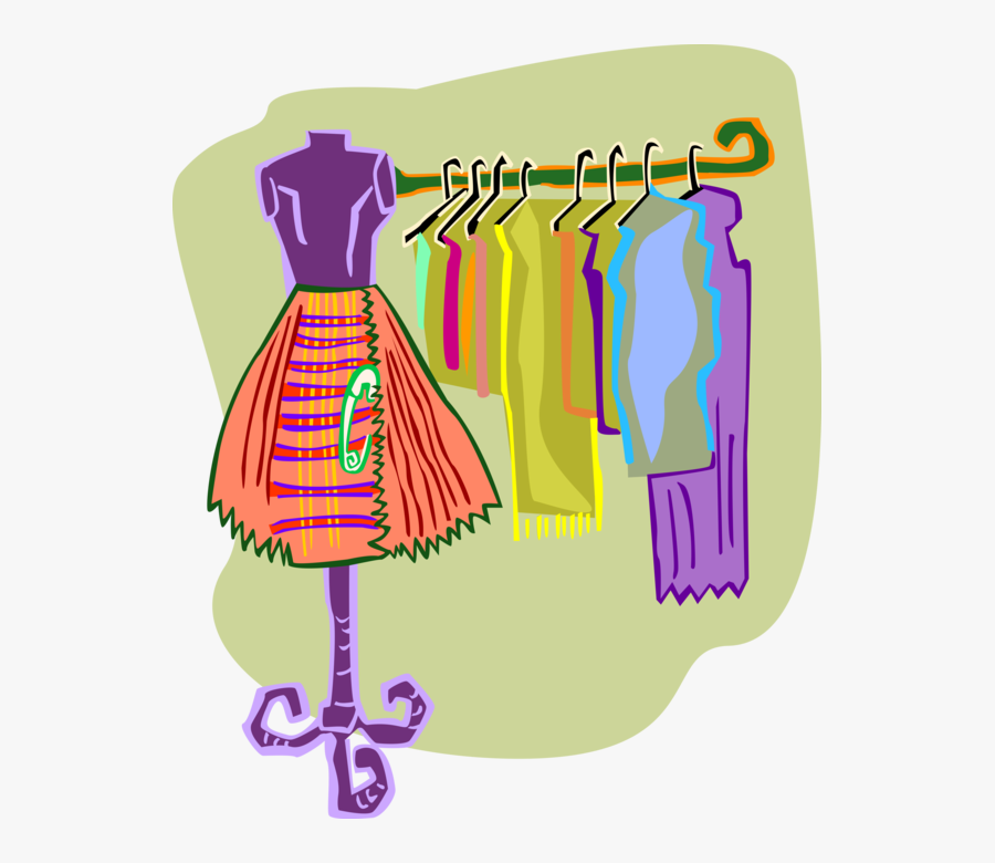 Vector Illustration Of Retail Fashion Dresses And Clothes - Clothes Clip Art, Transparent Clipart